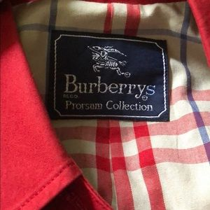 Original Burberry of London Red Trench Coat